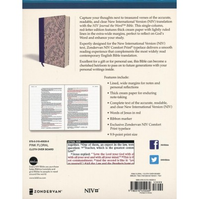 NIV Journal The Word Bible Pink Floral HC