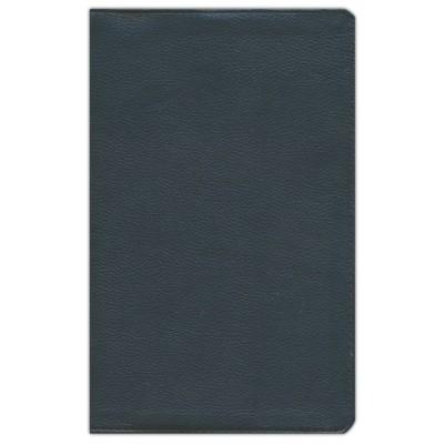 NKJV Single Column Reference Black Genuine Leather