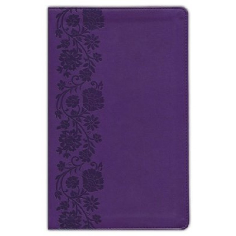 NKJV Large Print Personal Size Purple End of Verse Reference