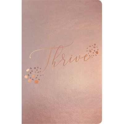 NLT Thrive Devotional Women Rose Metallic