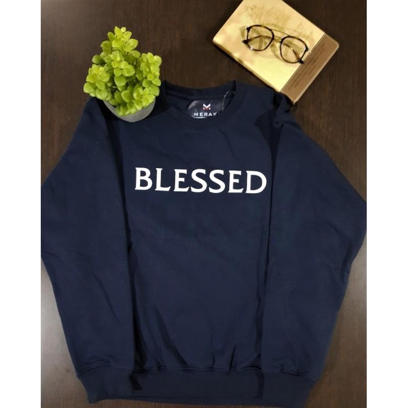 Blessed Navy Blue L Sweatshirt